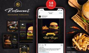 Burger Restaurant Instagram Posts&Stories L89B73Z