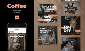 Coffee - Instagram Feed Post Template 3E833VN
