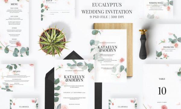 Eucalyptus Wedding Invitation HTU39RP