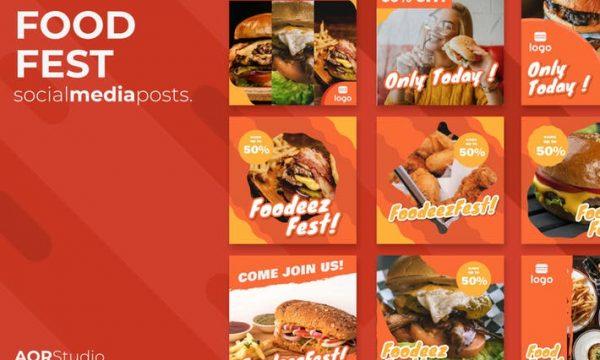Food Fest Social Media Posts F4H6HLP