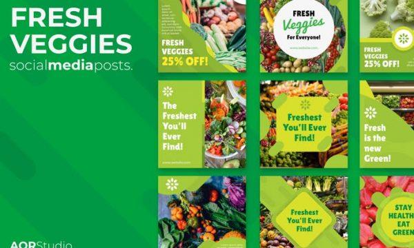 Fresh Veggies Social Media Posts Y3HRLD5
