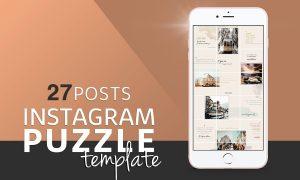 Instagram PUZZLE Template 3231074