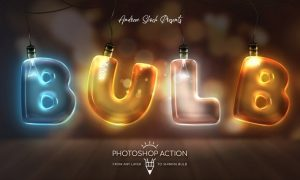 Light Bulb - Photoshop Action N527FVY