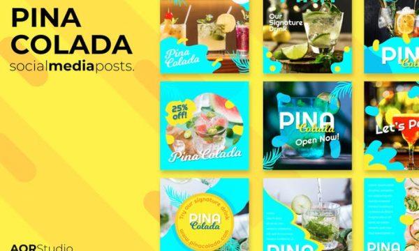 Pina colada Social Media Posts BNW2HME