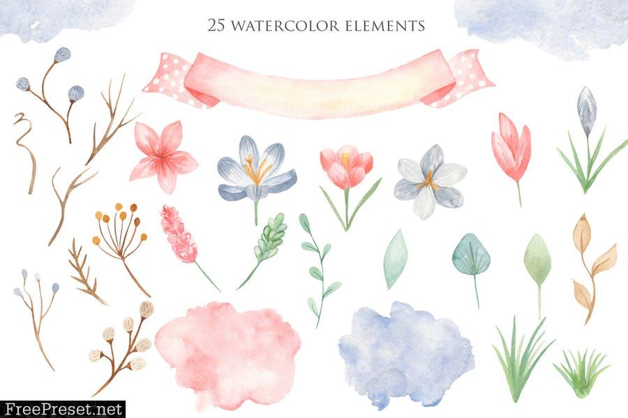Watercolor Happy Easter WQW6LJK