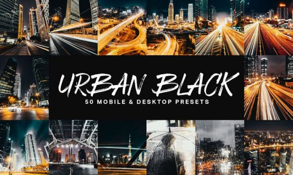 50 Urban Black Lightroom Presets and LUTs