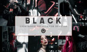 6 Lightroom Presets Black Luxury Theme 3876397