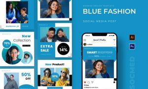 Blue Fashion Instagram Post MV9ENGR