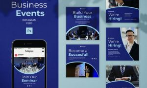 Business Events - Instagram Feed Post Template J8RTLDN