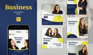 Business Instagram Feed Post Template PAJNHQ8