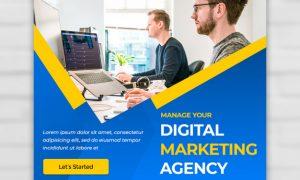 Digital agency marketing square banner