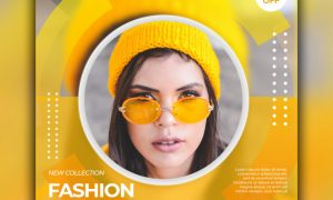 Fashion sale banner for social media post template