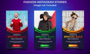 Fashion special sale instagram story template Premium Vector