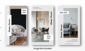Home decor set instagram stories template