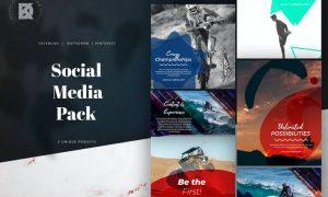 Instagram Facebook Sport Social Media Pack 5PRHNMR