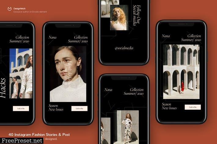 Instagram Fashion Story & Post Template 65DG7S6