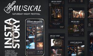 Musical Event Concert Instagram Story Template DU2JLQL