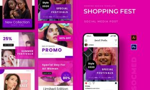 Shopping Fest Instagram Post RQXYCLY