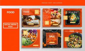 Social media food post template Premium Vector