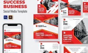 Success Business Social Media Template B635TBF