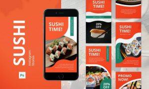 Sushi Instagram Stories 22Z5G2H