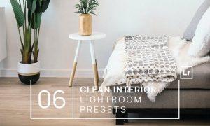 6 Clean Interior Lightroom Presets