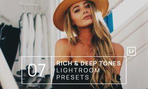 7 Rich & Deep Tones Lightroom Presets