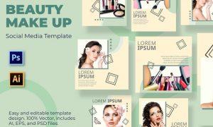 Brush Make Up Social Media Template 42WVLPJ