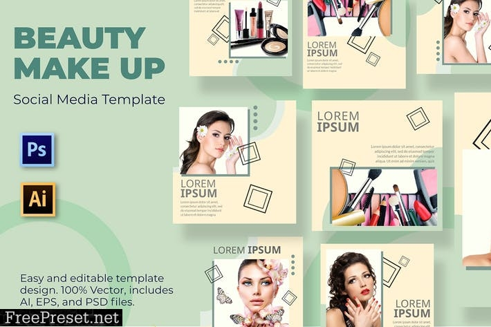 Brush Make Up Social Media Template 42WVLPJ