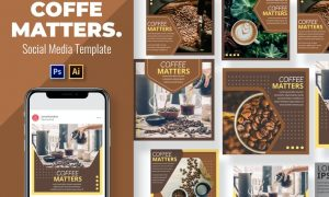 Coffe Matters Social Media Template A4N68NC