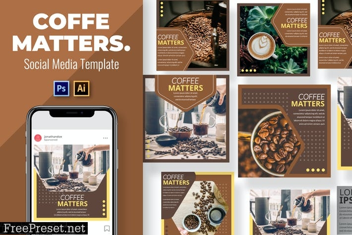 Coffe Matters Social Media Template A4N68NC