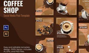 Coffee Lorem Social Media Template JYSXLVW