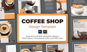 Coffee Social Media Template ZDGFTFP