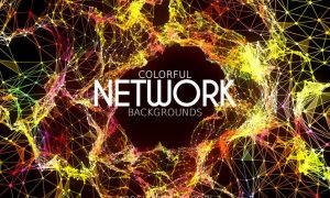 Colorful Network Backgrounds 59YSPJU