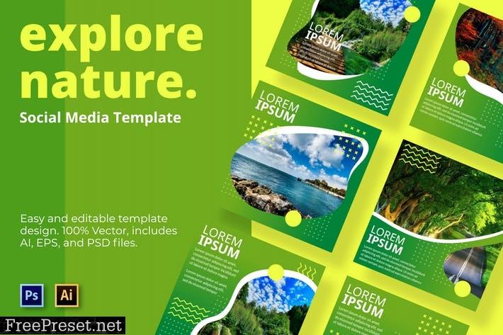 Explore Social Media Template J8F9ATE