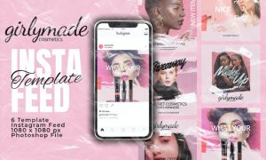 Girly Instagram Feed Post Template M3GDQE7