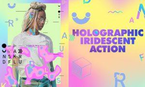 Holographic Iridescent Photoshop Action QYQC55D