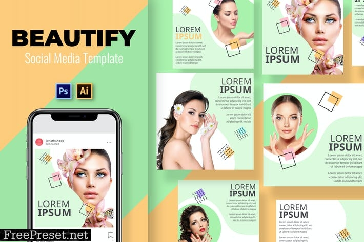 Home Beautify Social Media Template C2QF2WE