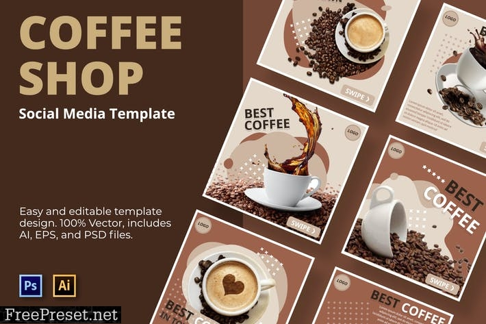 Luak Cofee Social Media Template FTWMHKP