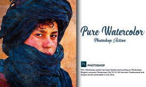 Pure Watercolor Photoshop Action 4880282