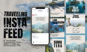 Travelling Instagram Feed Post Template CSUPYSY