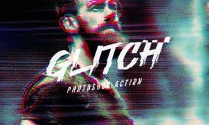 VHS Glitch Photoshop Action EJSE8EG