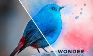 Wonder Watercolor Photoshop Action 26538064