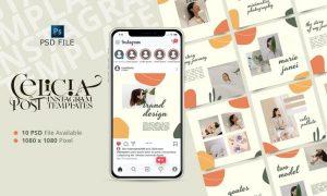 CELISIA - Fashion Instagram Post Template FDH87A2