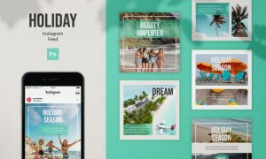 Holiday Instagram Feed Post Template HXP28WE