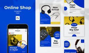 Online Shop Instagram Feed Post NVU7KEJ