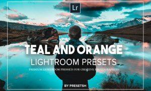 Orange and Teal Lightroom Presets YH49PXW