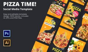 Pizza Time Social Media Template 83KWHYW
