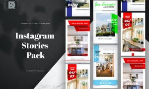 Real Estate Instagram Stories Banners Pack TG2H7ZA
