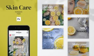 Skin Care Instagram Feed Post Template MLY7Z9T